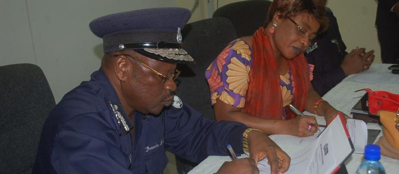 Inspector General of Police & the Commissioner-General at the Signing of a Memorandum of Understanding with the Sierra Leone Police