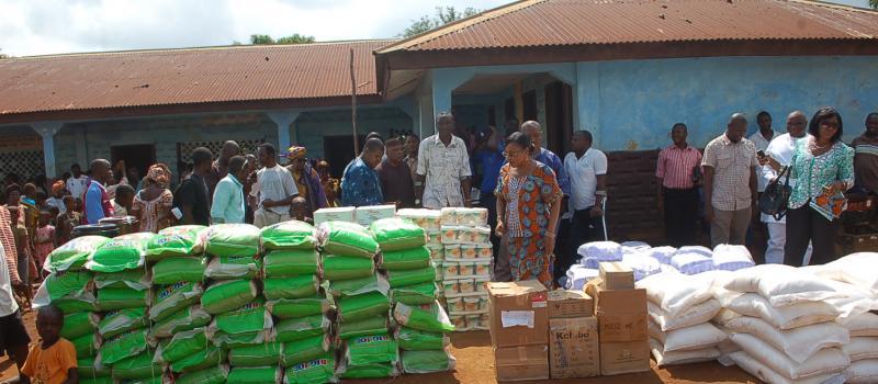 NRA Donates to Gbomsamba Village & Raised Awareness on Ebola Preventive Methods
